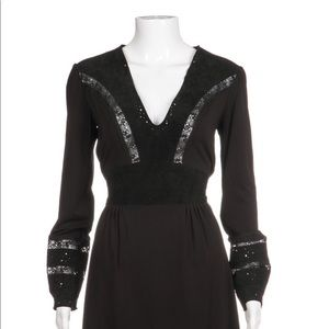 BCBG lace and suede dress